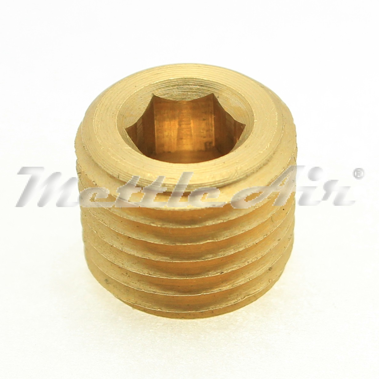 "British Parallel Thread Brass Countersunk Pipe Plug 3/8"" BSPP (G)"