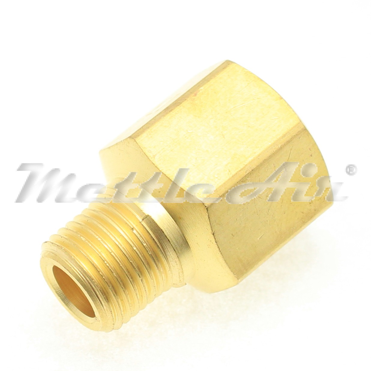 "British Tapered to Parallel Thread Brass Adaptor 1/8"" BSPT ( R ) Male - 1/8"" NPT Female"