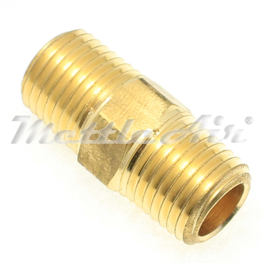 "British Tapered Thread Brass Hex Pipe Nipple 1/4"" BSPT (R) Male"