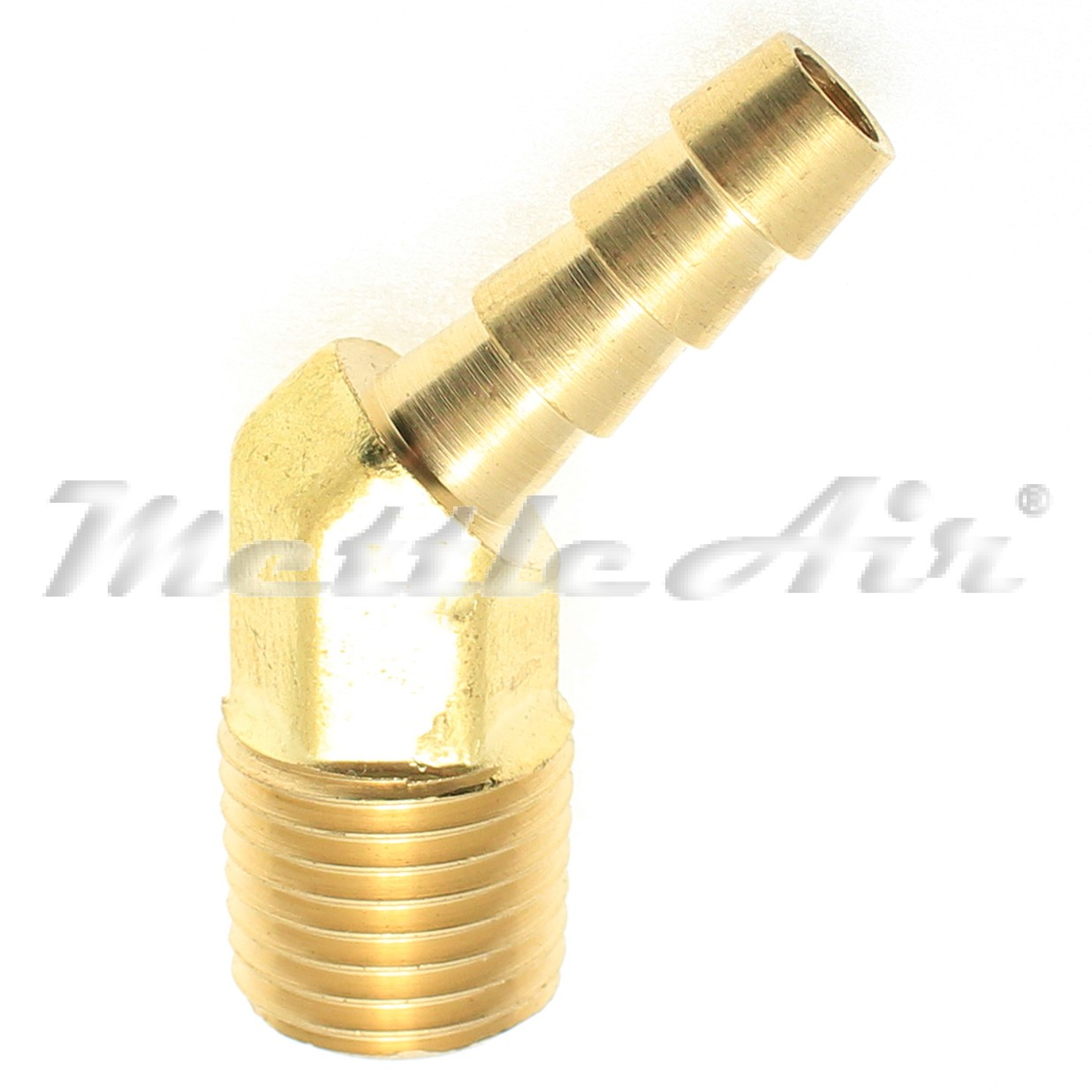 Brass male elbow quot hose id barb npt