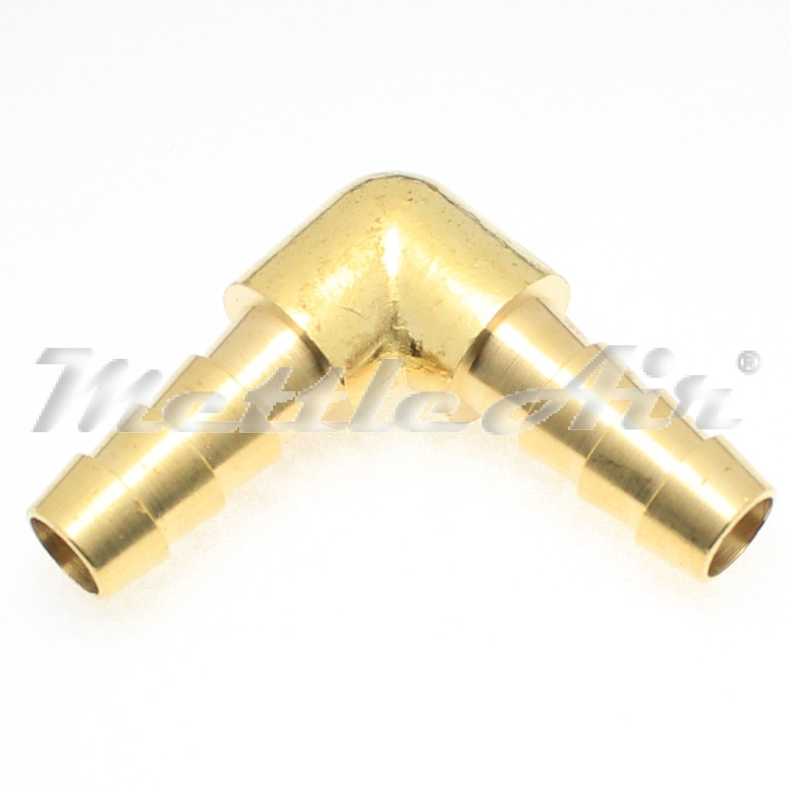 Brass elbow union quot hose id barb