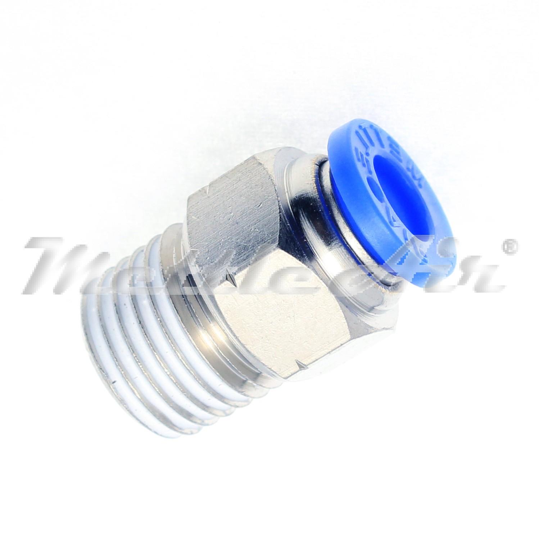 Polybutylene Plastic Male Straight USA Sealing Push to Connect Tube Fitting 1//2 Tube OD x 1//4 NPT Male
