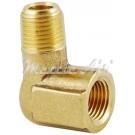 "Brass 90° Forged or Cast Street Elbow 3/8"" NPT Female - 3/8"" NPT Male"