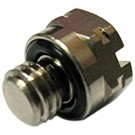 Brass Hex Head Pipe Plug M6 Male -  Nickel Plated