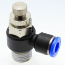 """Push to Connect Speed Control METER OUT 4 mm OD - 1/4"""" BSPT (R) Male"""