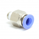 """Push to Connect Straight Fitting 6 mm OD - 1/16"""" NPT Male"""